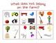 Farm Animals (Interactive Books, Play-doh Mat, What Does Not Belong Activity)