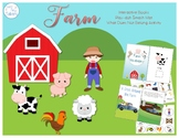 Farm Animals (Interactive Books, Play-doh Mat, What Does N
