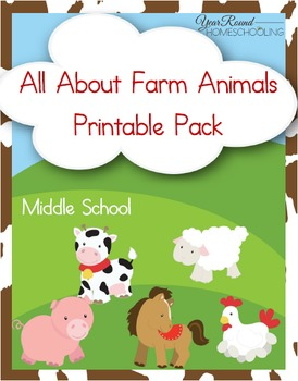 Farm Animals Learning Pack (Middle School)