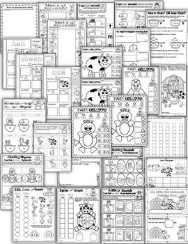 Farm Animals-Lesson plans, centers, printables and art MEGA THEME PACK