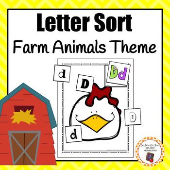 Farm Animals Letter Sort - S