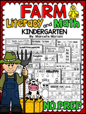 Farm Animals-Literacy and Math NO PREP Printables (75+ farm worksheets)