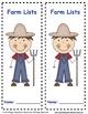 Farm Animals Make a List Activity