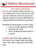 Farm Animals Match Up Activity