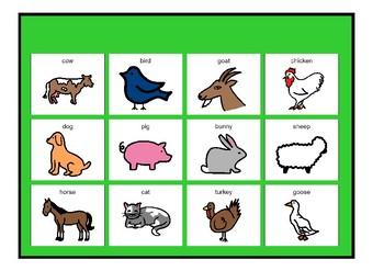 Farm Animals Matching Board