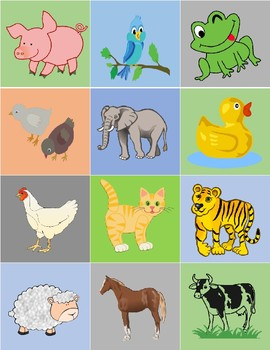 Farm Animals Matching Game