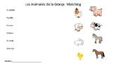 Animals: Farm Animals Matching Worksheet