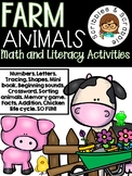 Farm Animals Math, Literacy and Fine Motor Activities