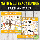 Farm Animals Math and Literacy Bundle Pack