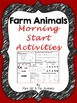 First / Second Grade - Farm Aninals Morning Start