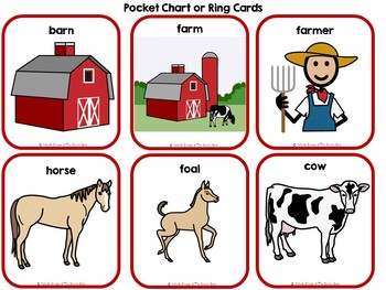 Farm Animals Mothers & Babies Adapted Book & File Folder Game (SPED, Autism)