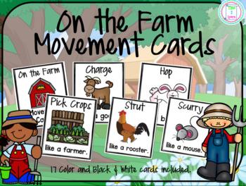 Farm Animals Movement Cards/Brain Break