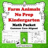 Farm Animals No Prep Kindergarten Math Packet, Distance Learning