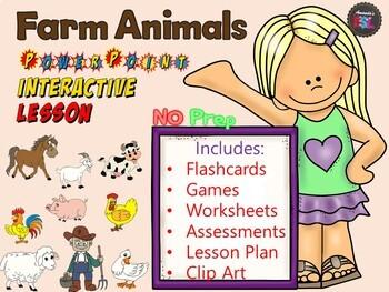 Farm Animals - No Prep - PowerPoint Interactive Lesson
