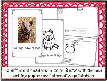 Farm Animals - Non-fiction Beginning Readers for Guided Reading