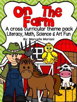 Farm Animals-On The Farm-Literacy,Math,Science and Art FUN MEGA THEME PACK