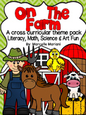 Farm Animals-On The Farm-Literacy,Math,Science and Art FUN MEGA THEME PACK