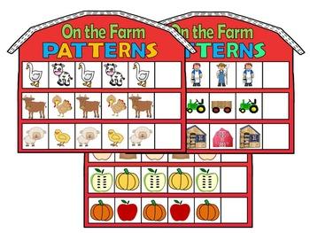 Farm Animals- PATTERNS+ Does it Belong on a Farm Literacy+Math Centers