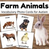 Farm Animals Flashcards for Autism, Pecs