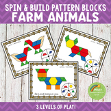 Farm Animals Pattern Blocks Spin and Build