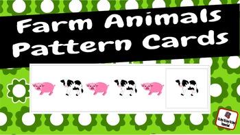 Patterns: Farm Animals Pattern Cards
