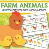 Farm Animals Patterns Center and Supporting Printables for Preschool