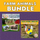 Farm Animals Printable Puzzles & Math Blocks Pattern Templ