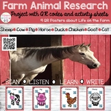 Farm Animals Research Project with QR codes