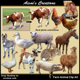 Farm Animals Real Photo Clip Art