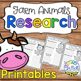 Farm Animals Research Project Templates for Grades 1-2