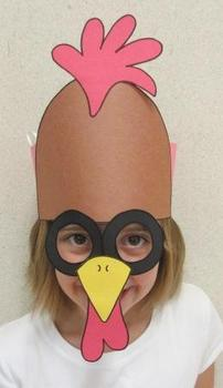 Farm Animals Rooster Sentence Strip Hat Mask