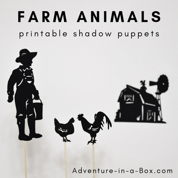 picture regarding Printable Shadow Puppets named Farm Pets Shadow Puppets for Small children
