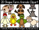 farm animals clipart-Farm Animals from shapes Clip art- 2D animal shapes Clipart