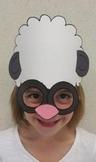 Farm Animals Sheep or Spring Lamb Sentence Strip Hat Mask