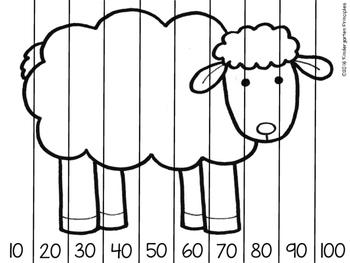 farm animals skip counting puzzles freebie by kindergarten principles. Black Bedroom Furniture Sets. Home Design Ideas
