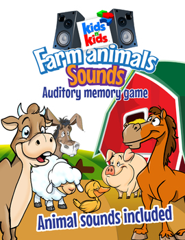 Farm Animals Sounds, Auditory Memory Game