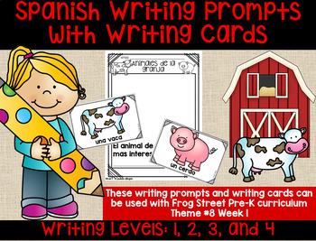 Farm Animals Spanish Writing Prompts & Cards Can Be Used With Frog Street