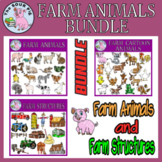 Farm Animals & Structures Clipart Bundle