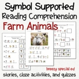 Farm Animals - Symbol Supported Picture Reading Comprehension
