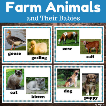 Farm Animals and Their Babies Posters for Classroom Decor
