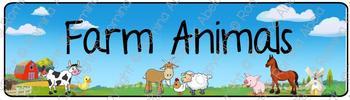 Farm Animals Theme Banner