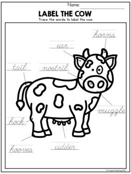 Farm Animals Theme Based Handwriting Lessons (Cursive Edition)