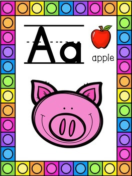 Farm Animals Themed Alphabet Posters