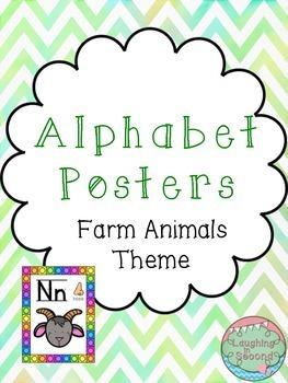 Farm Animals Themed Alphabet Posters