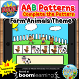 Complete the Pattern Boom Cards™- AAB Pattern (Farm Animal