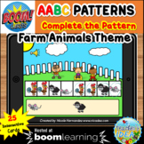 Complete the Pattern Boom Cards™- AABC Pattern (Farm Anima