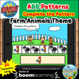 Complete the Pattern Boom Cards™- ABB Pattern (Farm Animal