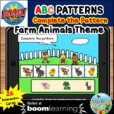Complete the Pattern Boom Cards™- ABC Pattern (Farm Animal