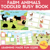 Farm Animals Toddler Busy Book Preschool Learning Binder F