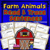 Farm Animals Tracing: Sight Words, Sentence Tracing, and Pictures -  Handwriting